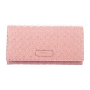 Gucci Microguccissima Continental Wallet in Pink